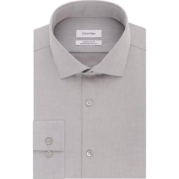 Calvin Klein 男士纯棉免熨烫衬衫