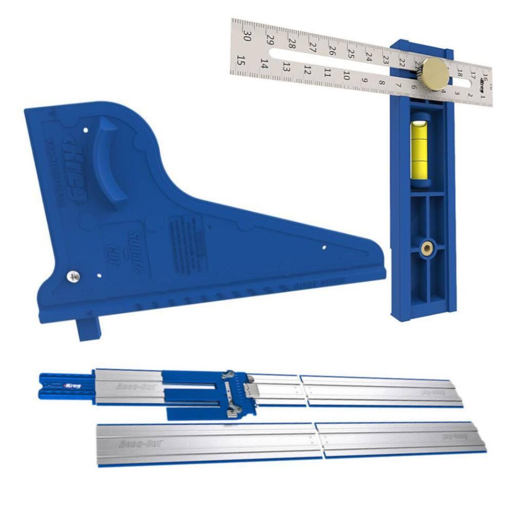 Kreg Accu-Cut XL Saw Track Guide w/ Square-Cut & Multi-Mark Measuring Tool