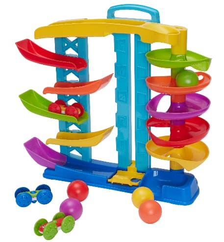 Kid Connection 9-Piece 2-in-1 Spiral & Racing Challenge Play Set