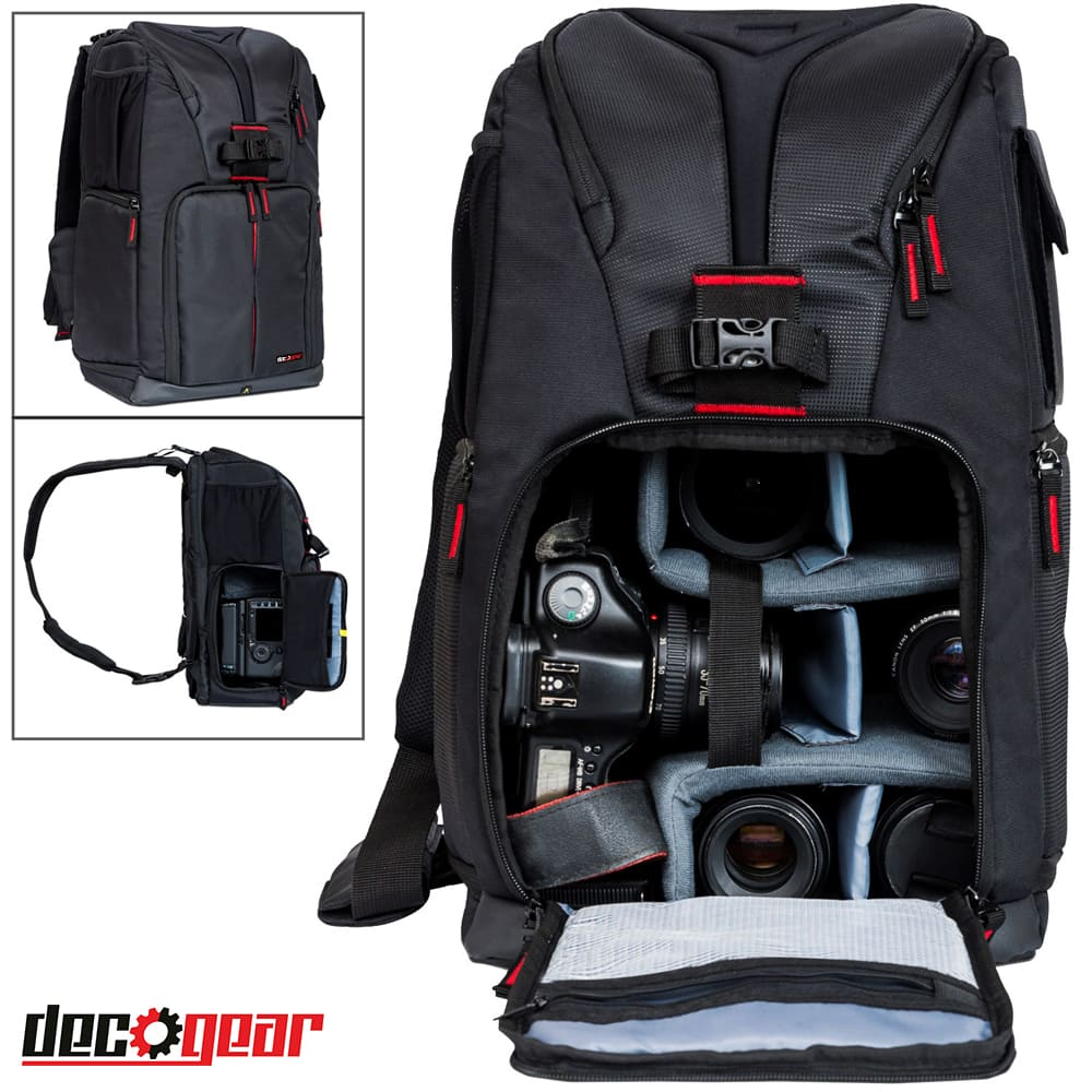 "Deco Gear Photo & Video Backpack $22, DSLR Camera Backpack (Fits 15"" Laptops)"