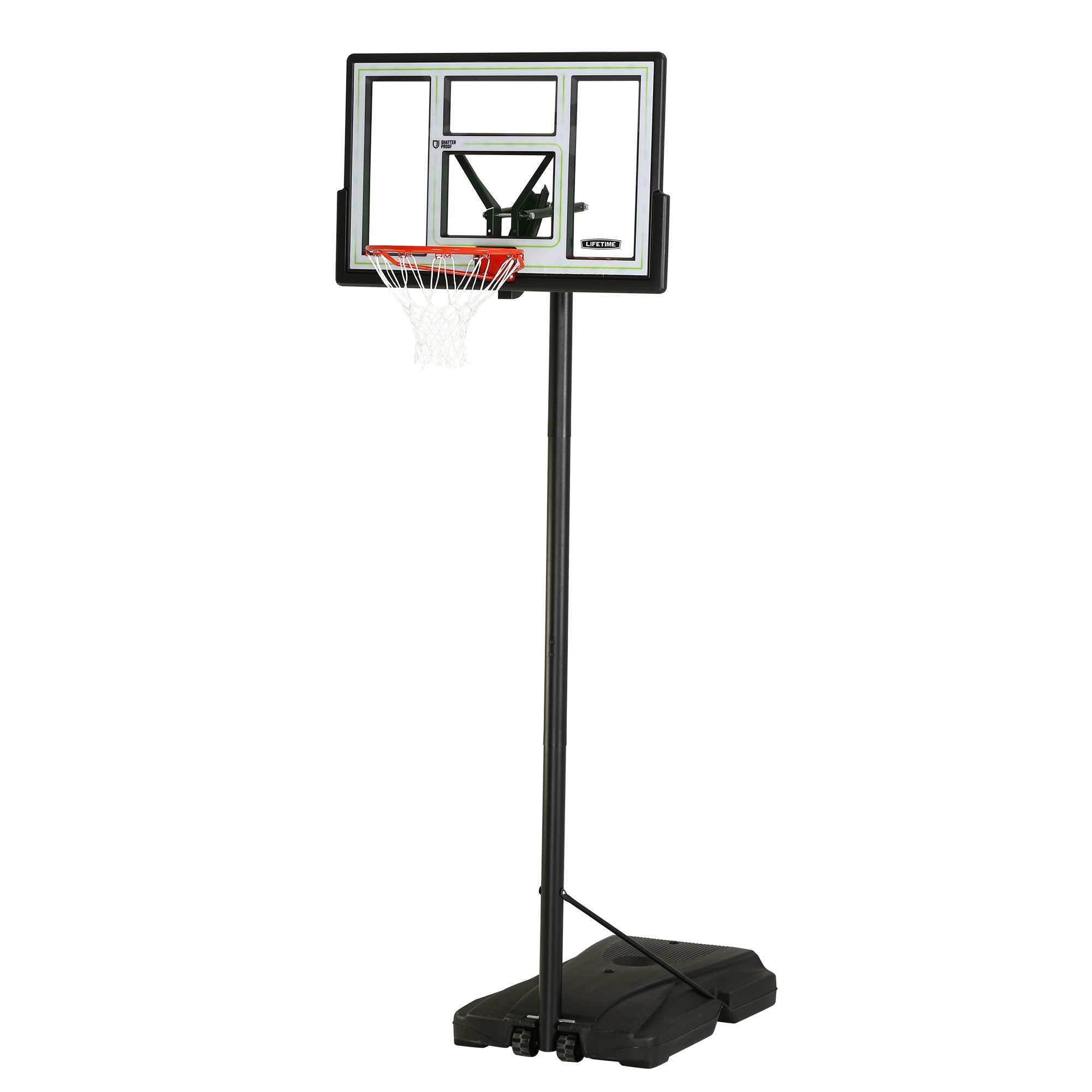 "Lifetime 46"" Adjustable Portable Basketball Hoop"