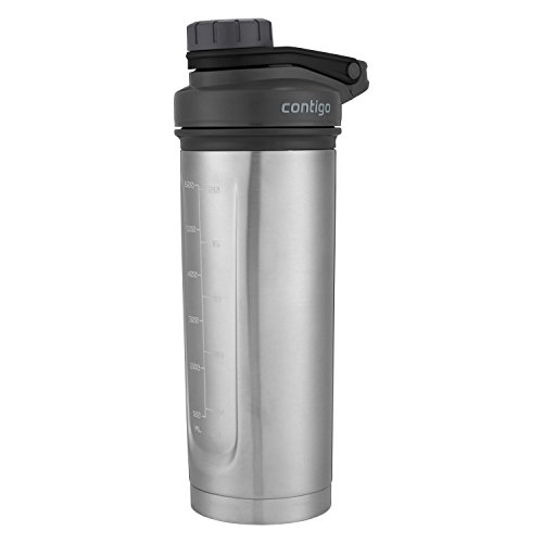 Contigo Shake & Go Fit THERMALOCK Stainless Steel Shaker Bottle, 24 oz., Black