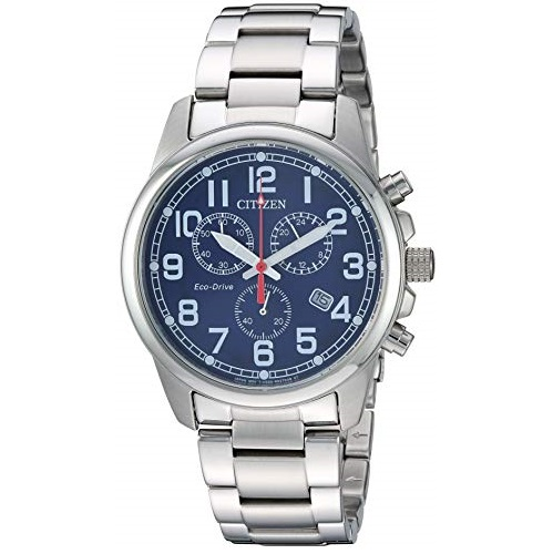 Citizen Men's Chandler Quartz Sport Watch with Stainless Steel Strap, Silver, 20 (Model: AT0200-56L)