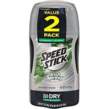 2-Pack 2.7-Oz Speed Stick Irish Spring Antiperspirant Deodorant