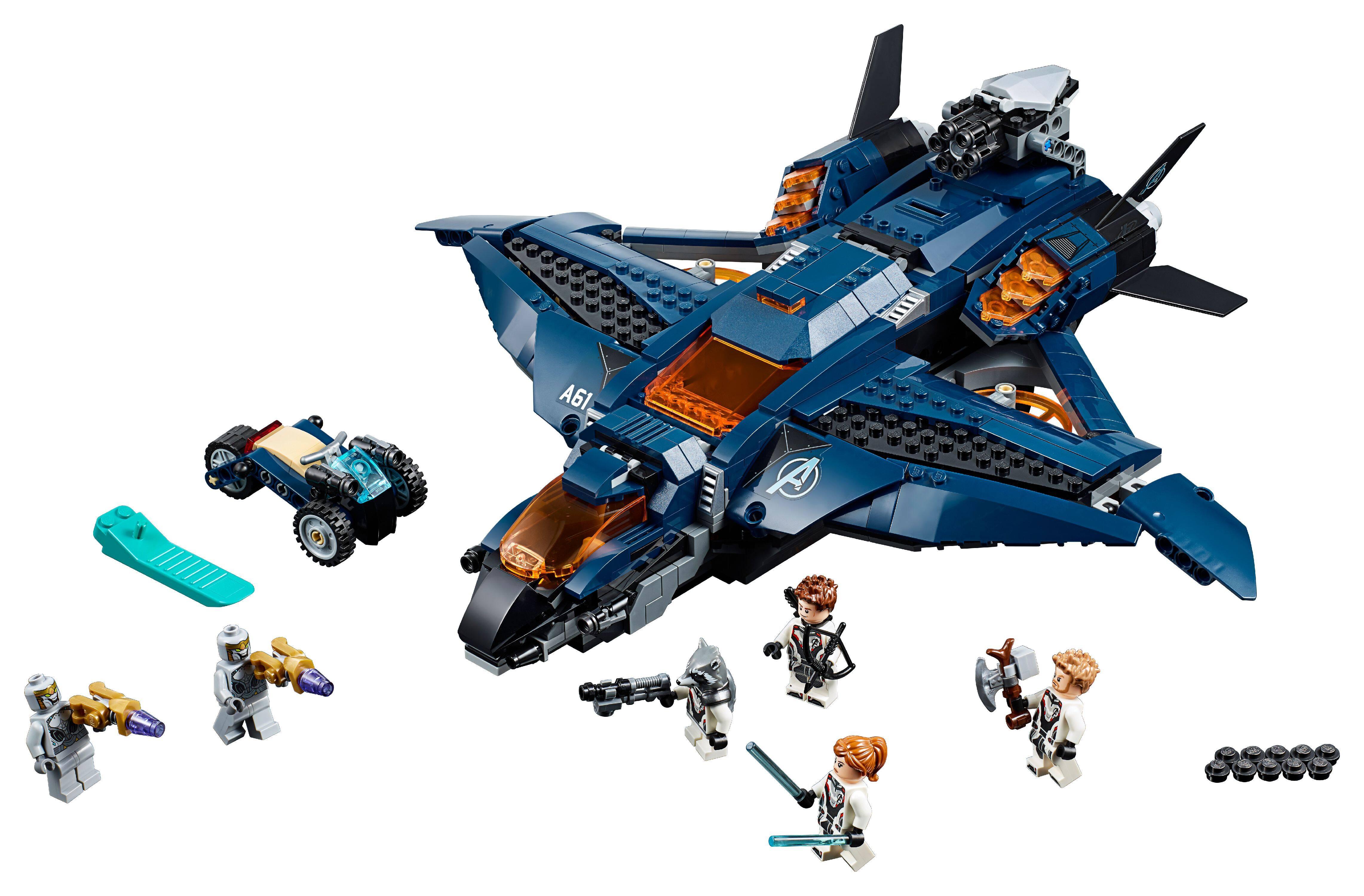838-Piece LEGO Marvel Avengers Ultimate Quinjet Building Kit