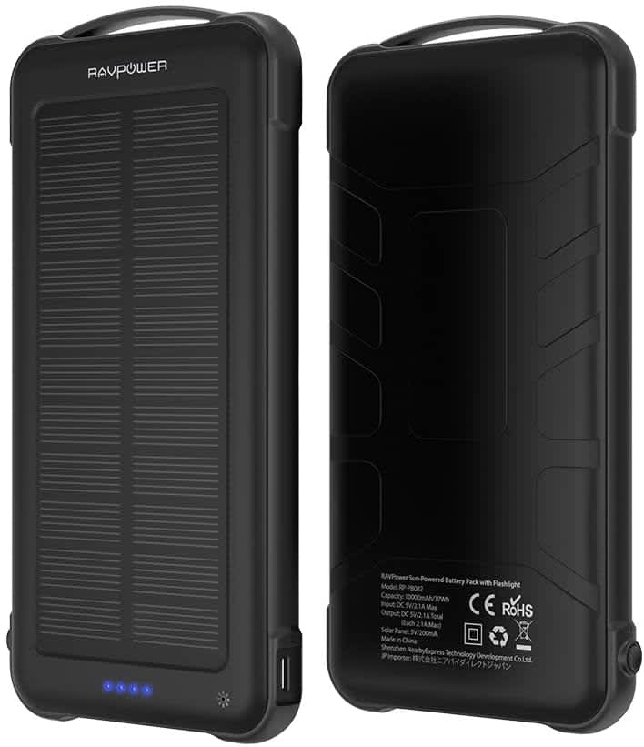 RAVPower 10,000mAh Solar Power Bank                                                         RAVPower 10,000mAh Solar Power Bank