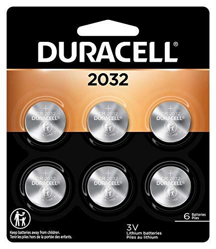 史低价! Duracell 2032号 3V 纽扣电池,6个装