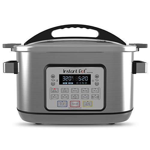 Instant Pot 8 Qt Aura Pro Multi-Use Programmable Multicooker with Sous Vide, Silver