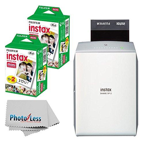 史低价!Fujifilm INSTAX SHARE SP-2 拍立得打印机 + 40 拍立得相纸套装