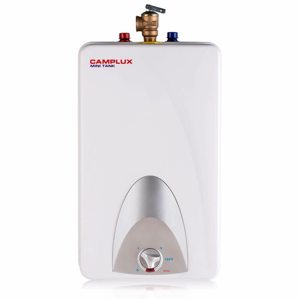 Camplux 4-Gallon Mini Tank Electric Water Heater                                                         Camplux 4-Gallon Mini Tank Electric Water Heater