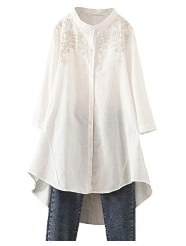 天然亚麻刺绣高级上衣,优雅大气自带舒适感