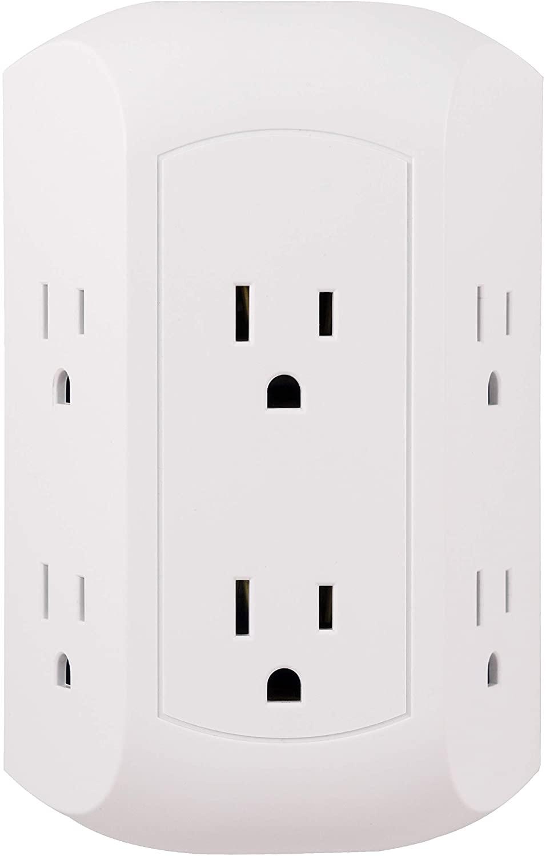 GE 6口电源转换插座,超实用插座瞬间一个变6个