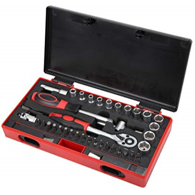 "Rosewill 43-PieceTool Set RTK-043 with 1/4"" SAE Drive Socket and 1/4"" Bit"