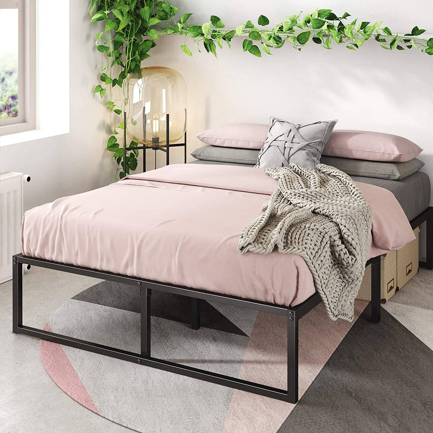 "Zinus Lorelei 14"" Platform Bed Frame: Full $52.25 or Queen"