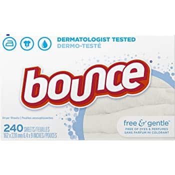 240-Count Bounce or Downy Fabric Softener Dryer Sheets
