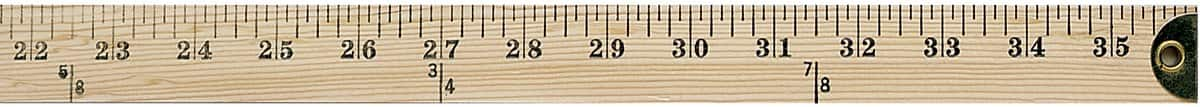 Westcott Wooden Yardstick w/ Hang Hole & Brass Ends (Clear Lacquer Finish)