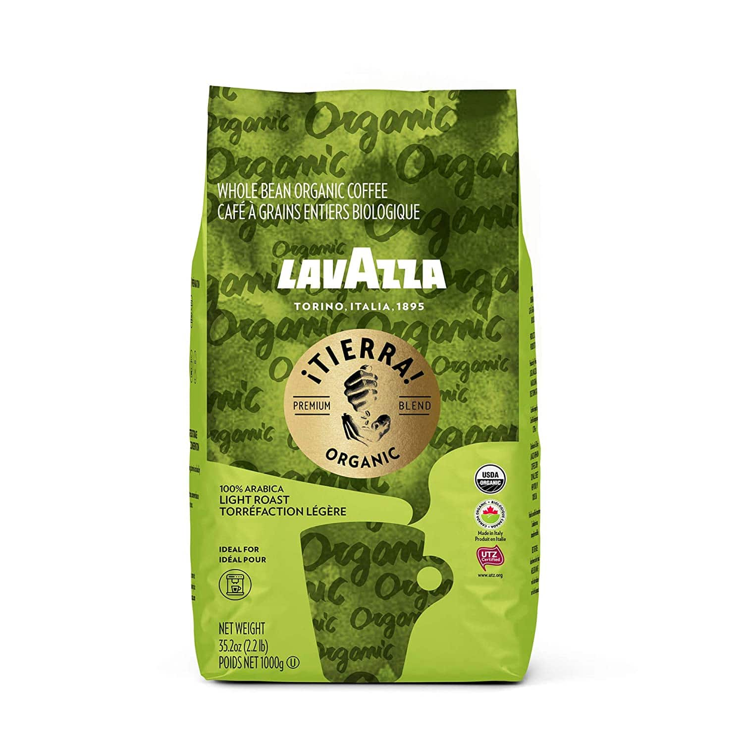 35.2oz Lavazza Organic ¡Tierra! Whole Bean Coffee (Light Roast)