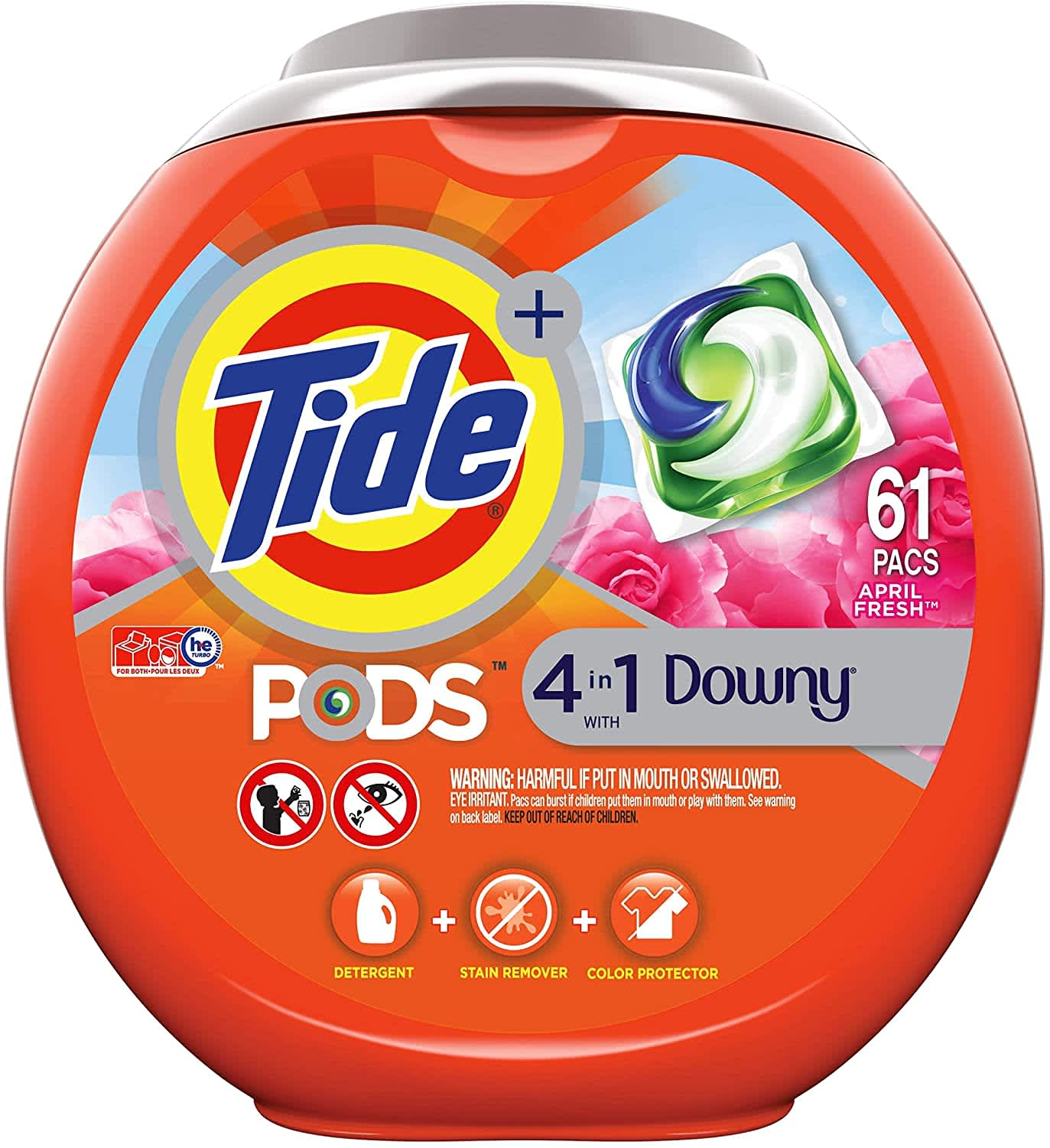 Tide PODS + Downy 4-in-1 61-Count Laundry Detergent Pacs