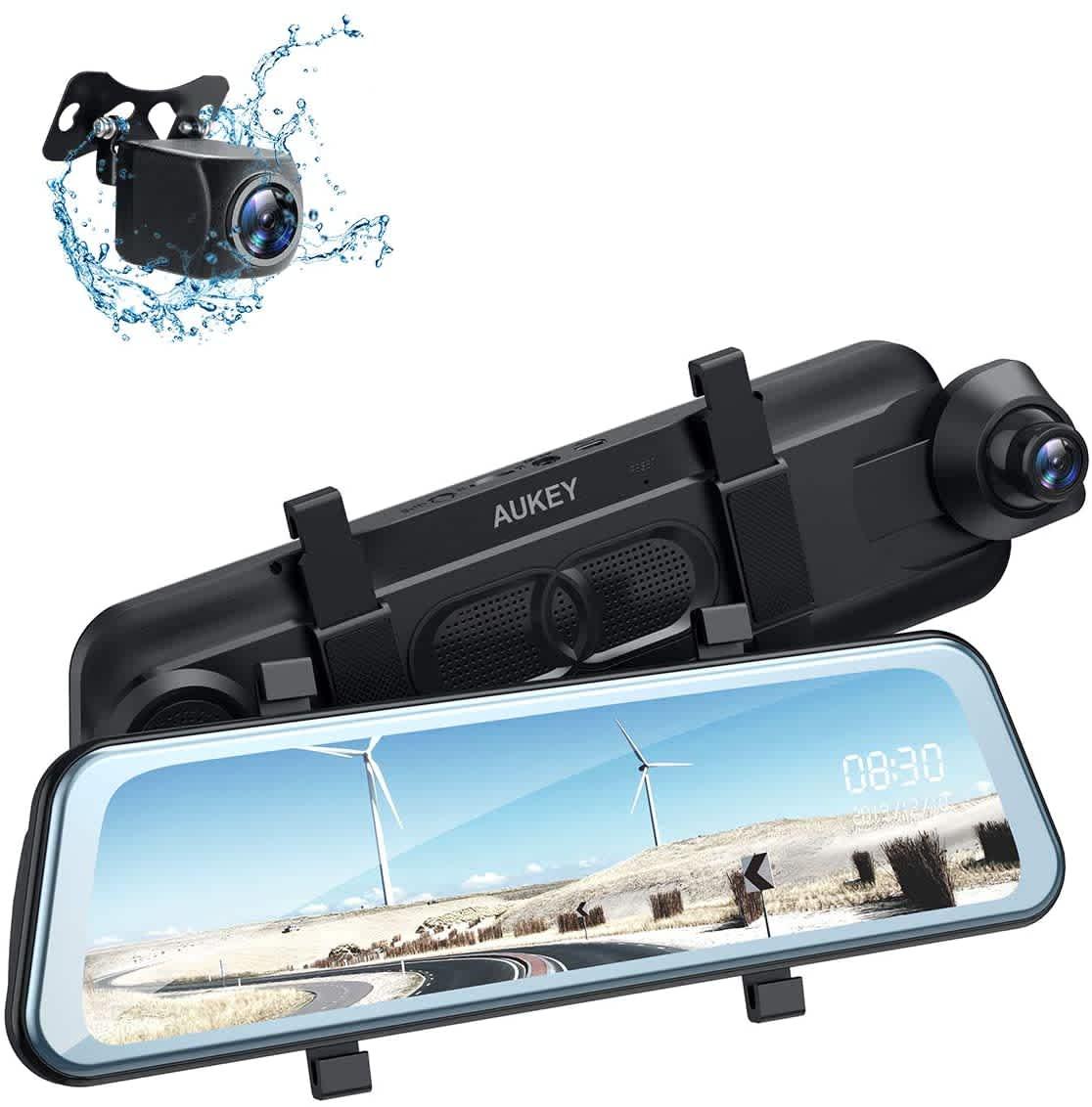"Aukey 10"" 1080p Dual Front & Rear Backup Camera"