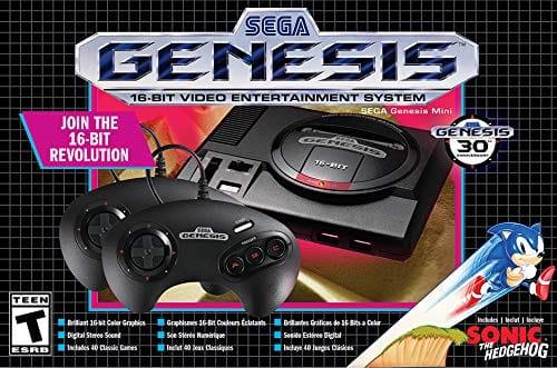 Sega Genesis Mini Console w/ 2 Controllers + 42 Games