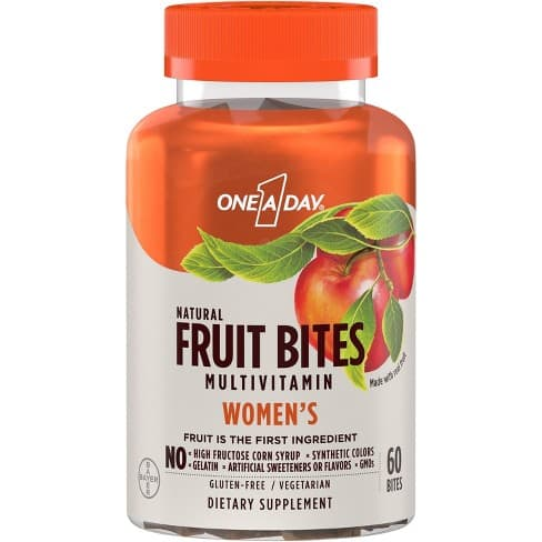 60-Count One A Day Fruit Bites Multivitamins (Women's, Men's or Kids)