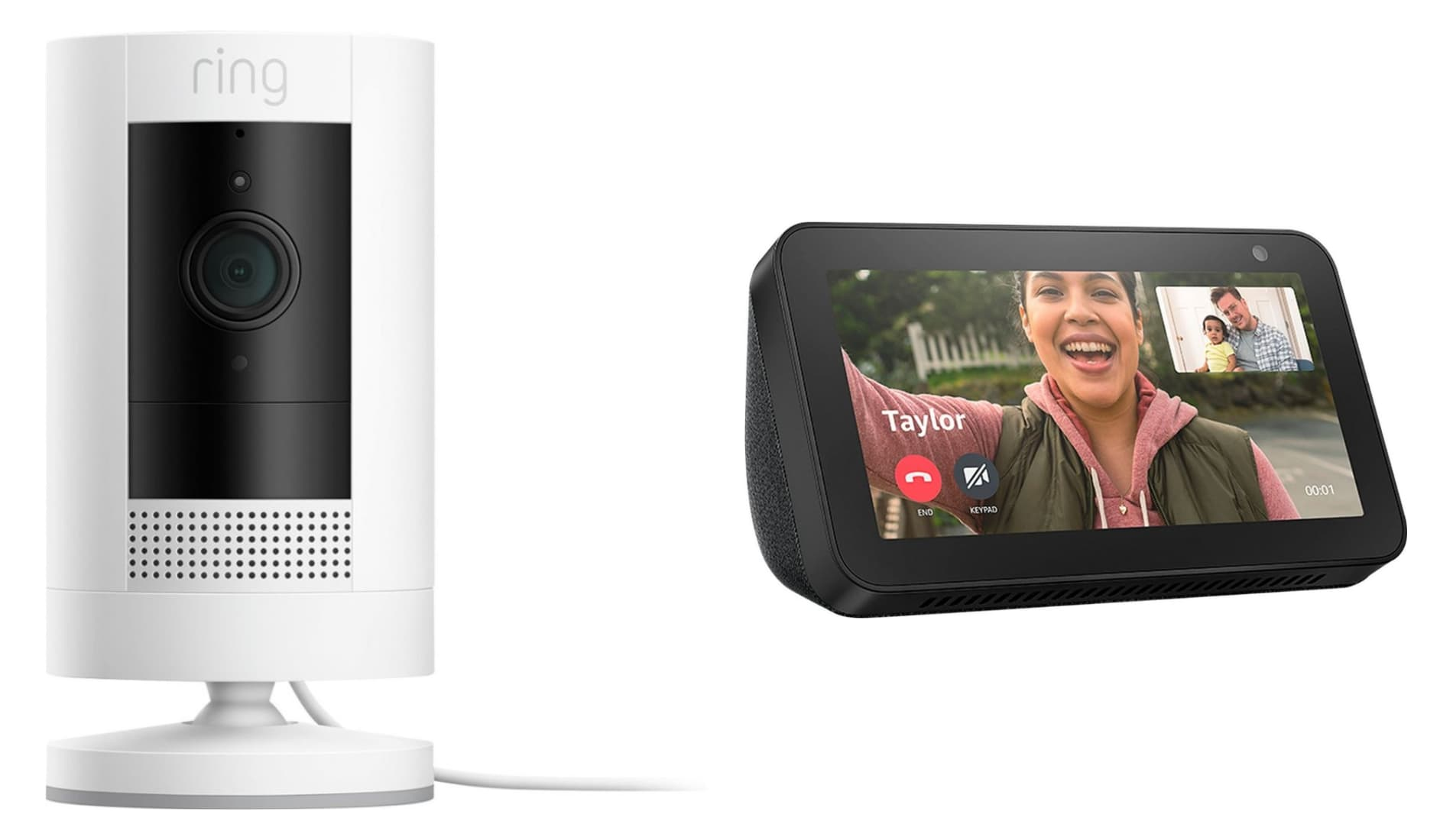 Ring Stick Up Cam Battery 1080p Outdoor Security Camera w/ Echo Show 5