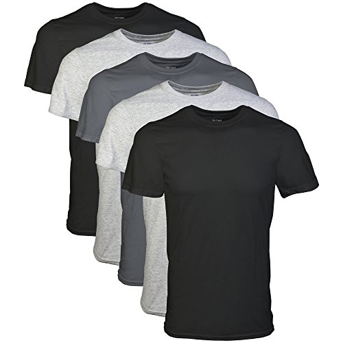 Gildan Men's Crew T-Shirts, White, Large 6 Pack