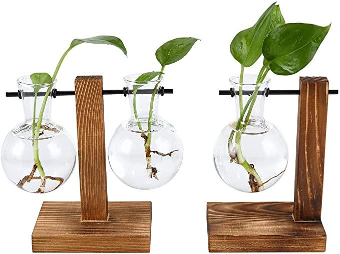超可爱的悬挂植物花瓶,造型相当别致