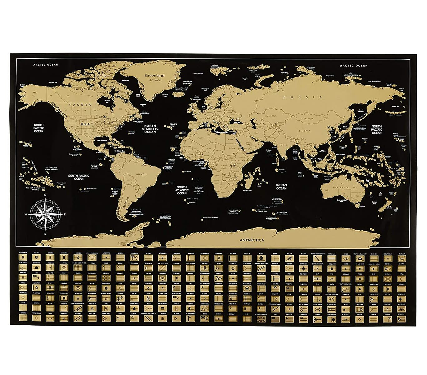 AmazonBasics Scratch Off World Map Poster