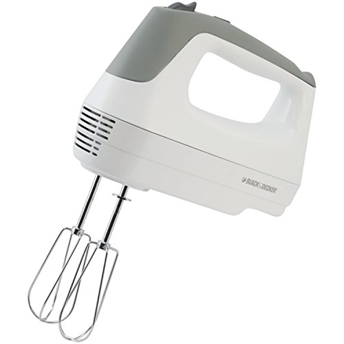 Black & Decker MX1500W Lightweight Hand Mixer, White