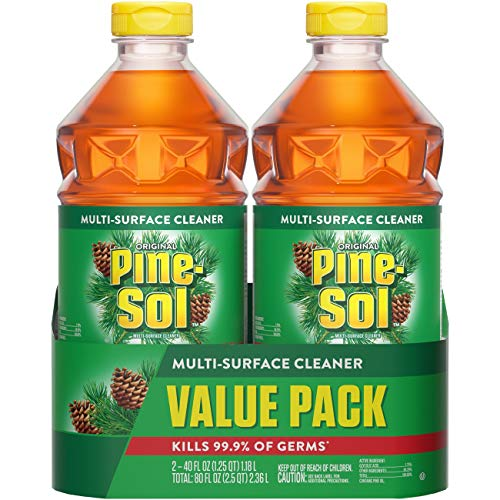 Pine-Sol All Purpose Cleaner, Original Pine, 40 Ounce Bottles (Pack of 2) (Packaging May Vary)