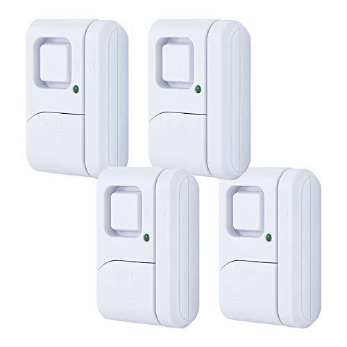 GE Personal Security Window/Door, 4-Pack, DIY Protection, Burglar Alert, Wireless