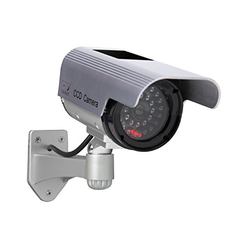 Sunforce 82340 Solar Fake Security Camera with Blinking Light