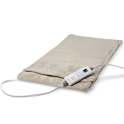 Sunbeam Heating Pad for Fast Pain Relief | XX-Large Ultra-King XpressHeat, 6 Heat Settings with Auto-Shutoff | Taupe, 14-Inch x 27-Inch