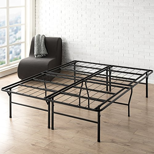 "Best Price Mattress King Bed Frame - 18"" Metal Platform Bed Frame w/Heavy Duty Steel Slat Mattress Foundation (No Box Spring Needed), King Size"
