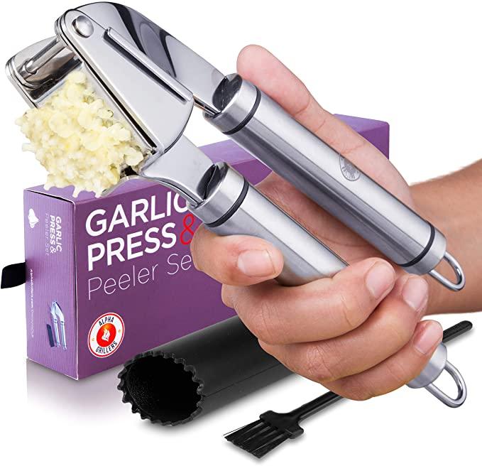 闪购! Alpha Grillers压蒜器+剥皮工具仅$ 10.67!