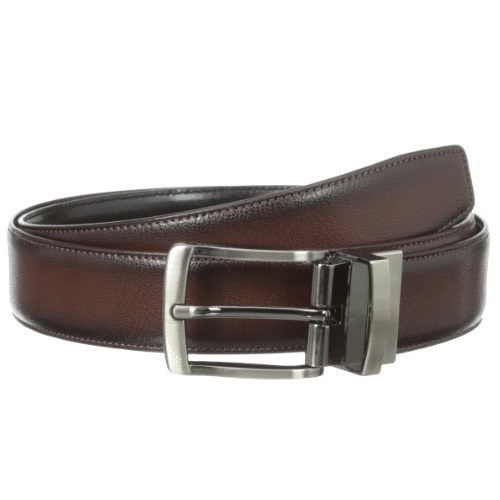 Perry Ellis Men's Burnished Edge Belt