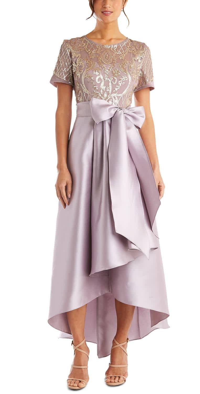 Women's Sequins & Satin High-Low Gown