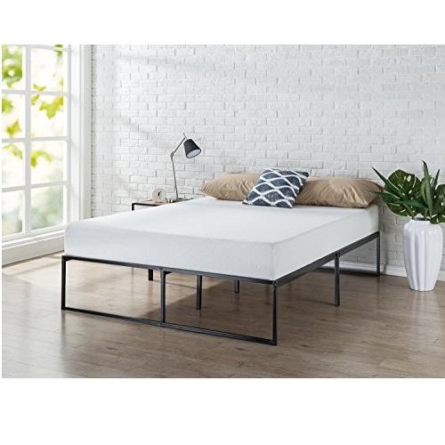 史低价!Zinus 14英寸高现代风格钢制床架,queen size