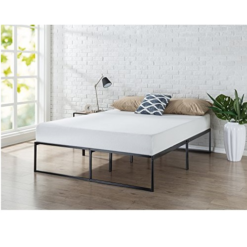 Zinus Lorelei 14 Inch Platforma Bed Frame / Mattress Foundation / No Box Spring Needed / Steel Slat Support, Queen