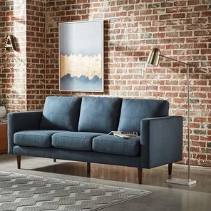 Rivet 布艺休闲三人沙发 80寸