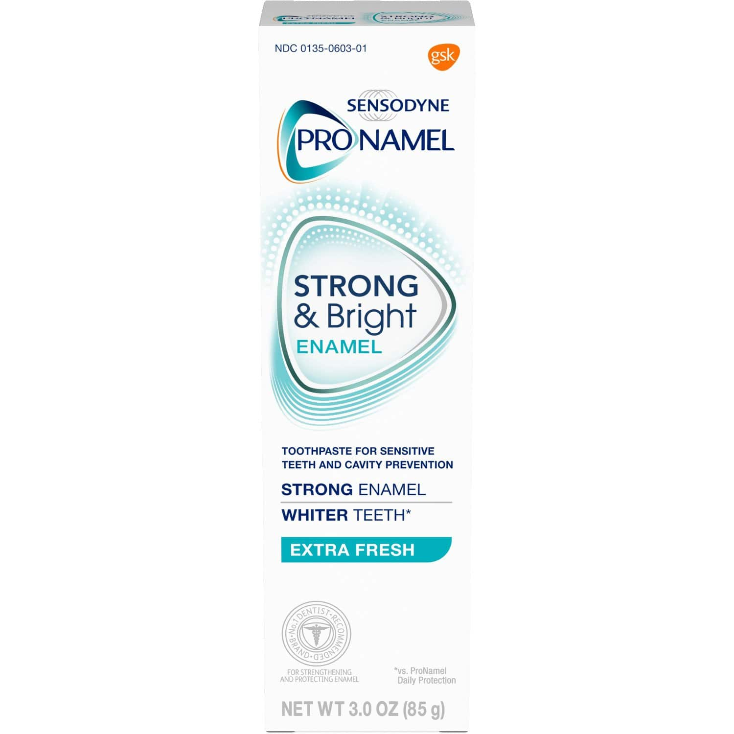 3oz Sensodyne Pronamel Strong and Bright Enamel Toothpaste (Extra Fresh)
