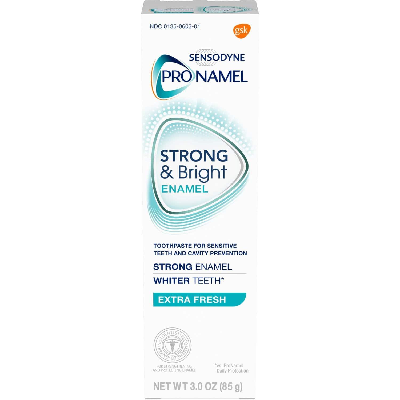 3oz Sensodyne Pronamel Strong and Bright Enamel Toothpaste (Extra Fresh)