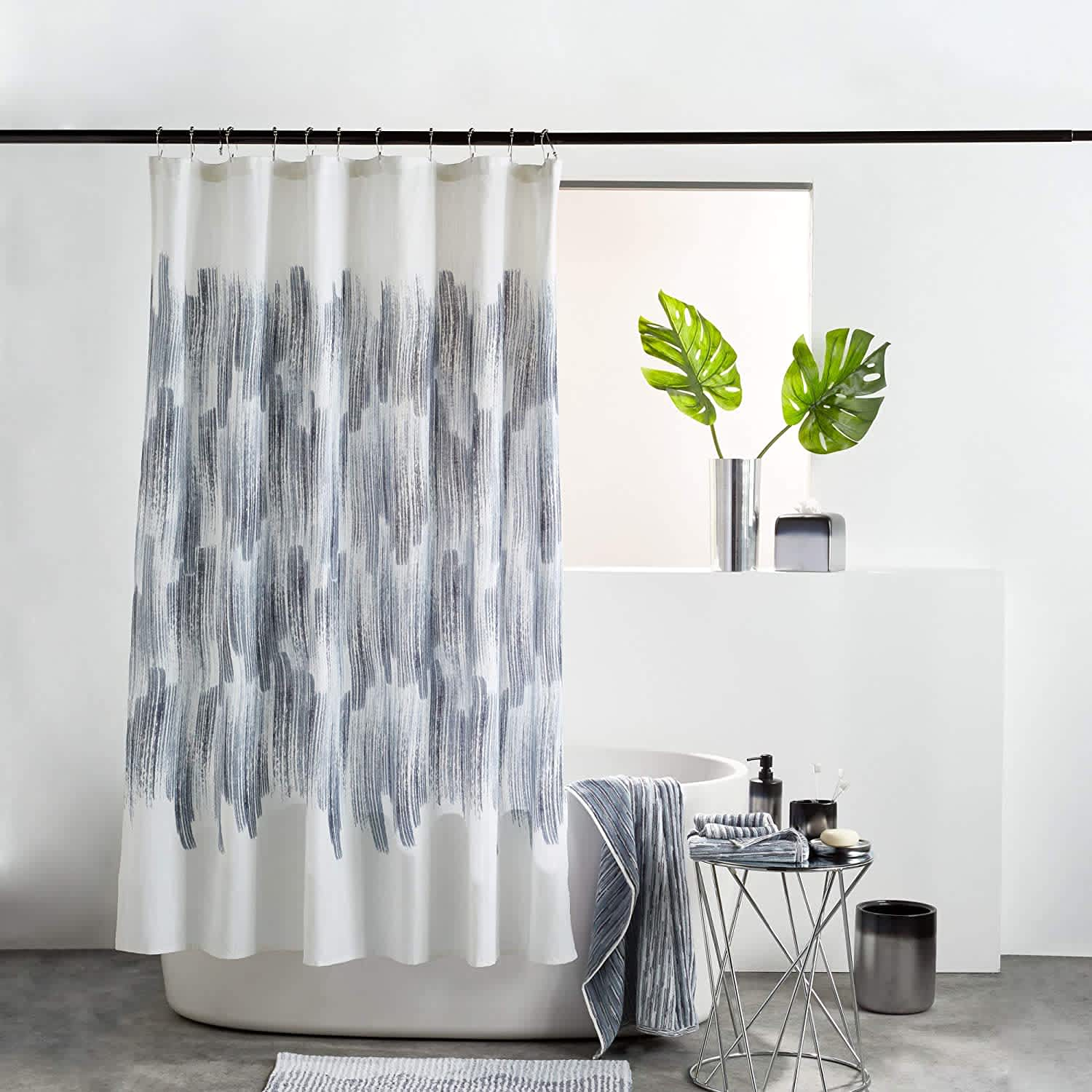 DKNY Brushstroke Ombre Shower Curtain