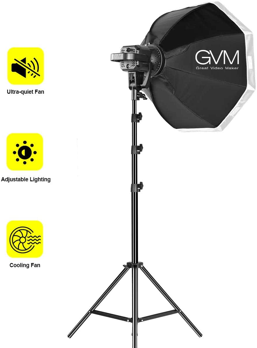 GVM Great Video Maker 80W Continuous Output Lighting Kit with Tripod Stand