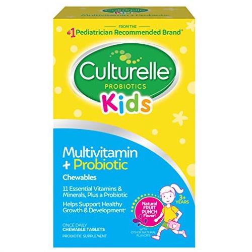 超级白菜!手慢无!Culturelle Kids 儿童益生菌 + 维生素 咀嚼软糖,50片,购买两盒