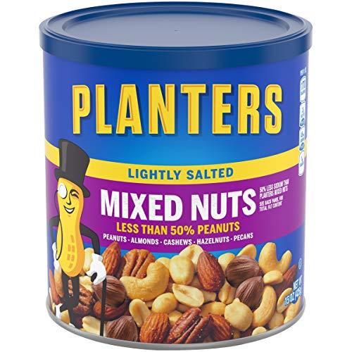 史低价!Planters  混合果仁,微咸口味,15 oz/罐,共3罐