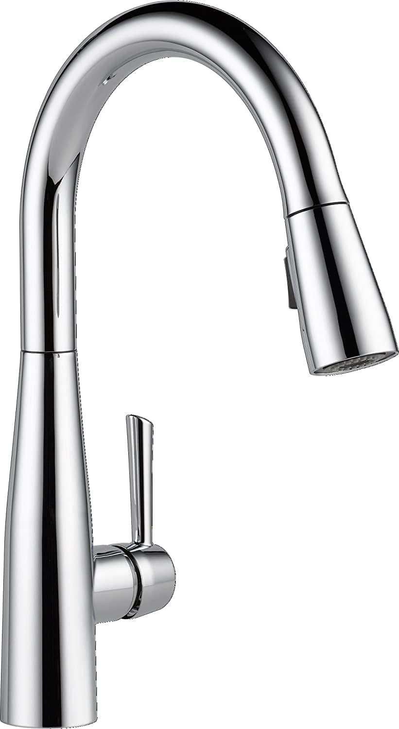Delta Essa Single-Handle Kitchen Sink Faucet with Pull Down Sprayer (Chrome)