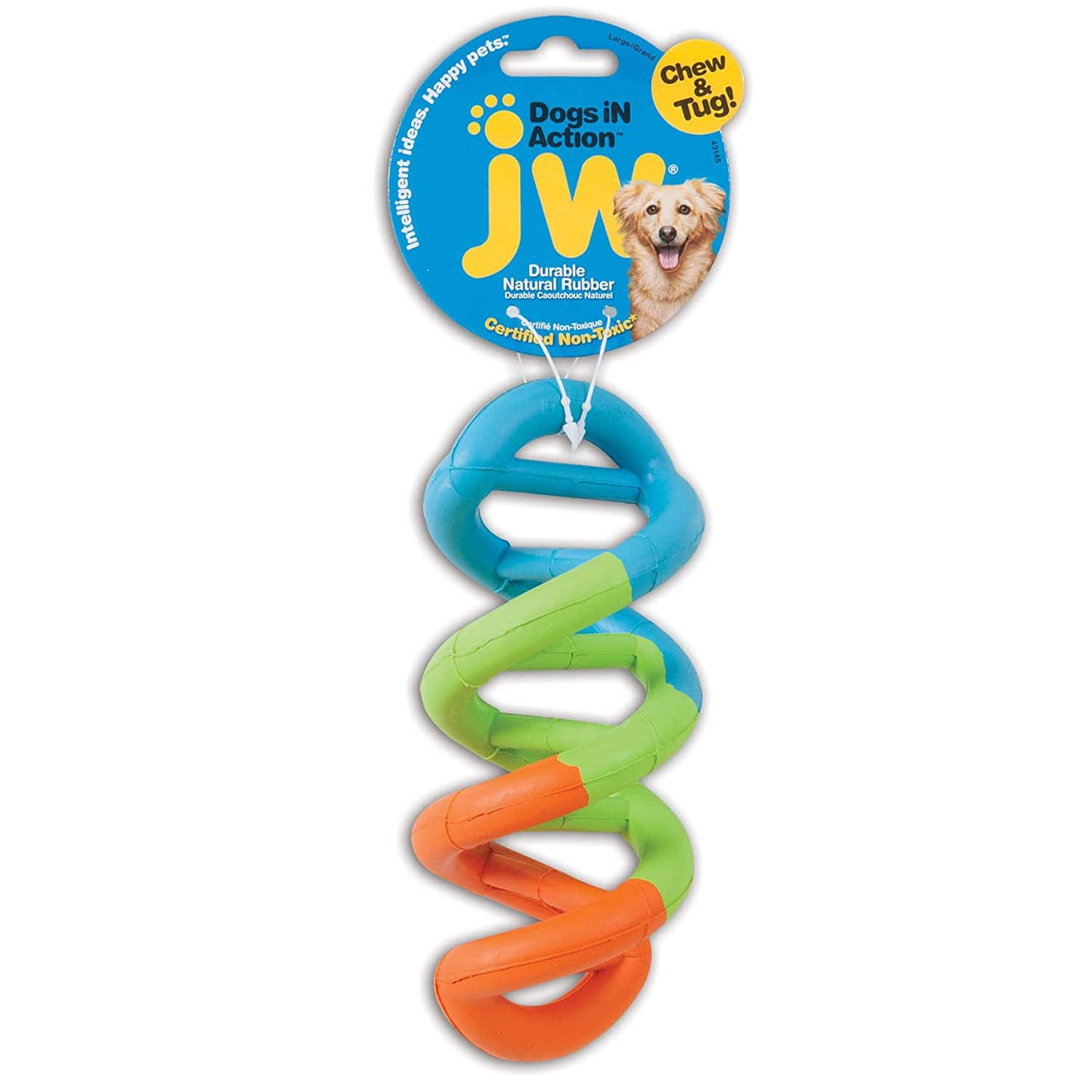 JW Dogs in Action Rubber Dog Chew Toy