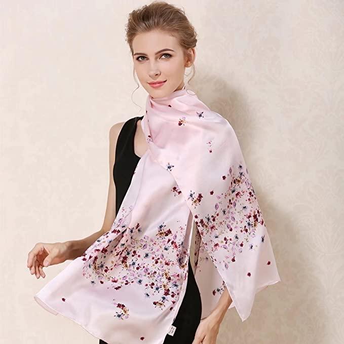 超级艺术!大尺寸100%桑蚕丝围巾, 多种图案